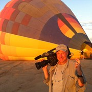 Shooting in a hot air balloon for Marriott Hotels in Arizona