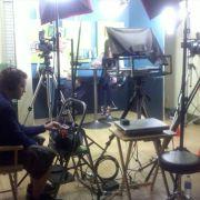 Studio set for a local TV show