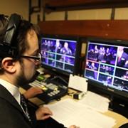 Director Corey Behnke calling the show
