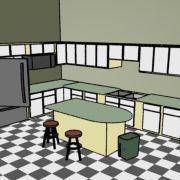 Kitchen Model- SoftImage XSI