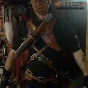 Gunblade holster, belt and mask for Aether:Prologue