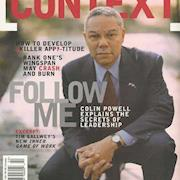Rhonda styled Colin Powell for magazine article