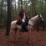 "Ed riding as ""Abraham"" in Sleepy Hollow, season 2, episode 10"