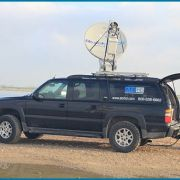 Quickspot IP sat truck and KU digital uplink truck