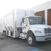 2013 Freightliner with 2006 40' Expanding Side KU/HD Hybrid Uplink Truck