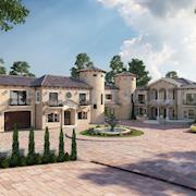 Ultra Semi-Modern Villa Exterior Design Ideas by Yantram architectural rendering studio Manchester, UK.