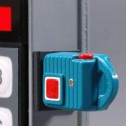 Blue LED illuminates once the key is fully engaged.