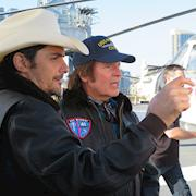 Interview of Brad Paisley and John Fogerty on Deck of USS Midway for Entertainment Tonight