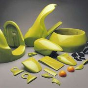 The cosmetic components that dressed the mechanicals were carved from high-density urethane foam block by Bob Boel.