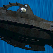 """A 3D mesh model of Disney's, Nautilus' fromt he movie, """"20 LEagues Under The Sea."""""""