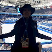 Rhonda styled at the Ice Palace for NBC Olympics in Russia