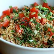roast orzo and herb salad