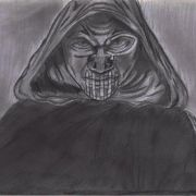 """Storyboard from my music video """"Conscious"""", showing the antagonist."""