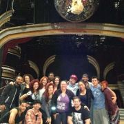 MTA Choreographer Liz Imperio (center) on set with dancers at Dancing with the Stars