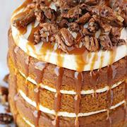 Pumpkin and Salted Caramel Layer Cake