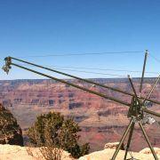 Carbon fiber camera crane at Grand Canyon