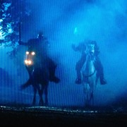 "Ed (on left)  riding as ""War"" in Sleepy Hollow, season 2, episode 2"