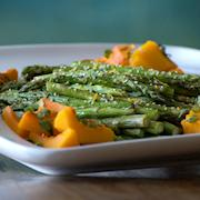 grilled asparagus/roasted squash