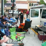 awaiting iphone release in Pal Alto with CNBC