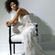 Fashion photo shoot for Brides Noir magazine.  Makeup by Candace Corey.