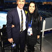 Rhonda styled Terry Gannon for NBC Olympics at the Ice Palace in Russia
