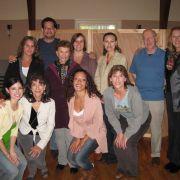 Me & my actors on movie set of Highland Fling 2009