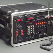 """""""Mil-Spec Field Operations Transceiver"""" featuring numeric LED displays, illuminated indicators, and transmit key actuated LED signal strength indicator."""
