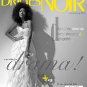 Fashion cover for Brides Noir magazine. Makeup by Candace Corey.