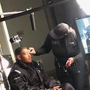 Key Makeup Artist. Male Grooming On Omar Benson Miller for Lexus 0 To 60 Celebrity Racing Competition