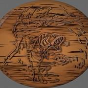 Woodcut 3D Logo