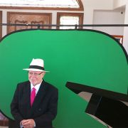 Green screen set up for New York Times Bestselling Author Michael E. Gerber