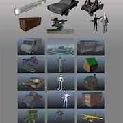 Various 3D model examples from classe that I taught 3D production pipeline.