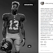 IG Post from the photographer for the EA Sports Madden Shoot