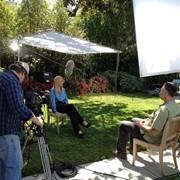 Outdoor Interview set up for Wells Fargo Bank Corporate Video
