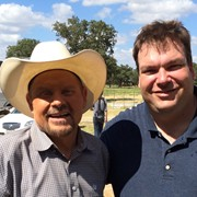 Me with country music legend Moe Bandy for his new tv show
