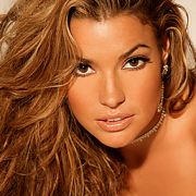 """Playboy Playmate Monica Leigh shoot for """"Girls Next Door"""".  Makeup and hair by Candace Corey."""