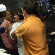 The boys in full wild mode, with Mercadito Miami's Exec. Chef Patricio Sandoval