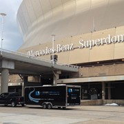 On location at Mercedes-Benz Superdome for live event production