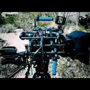 My AF100 on set in the desert