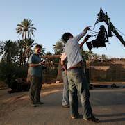 Yoho Media; prepping a crane shot outside Riyadh, Saudi Arabia.