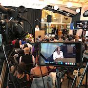 Filmed Nancy Pelosi at Ron Dellums Memorial Event at Scotts in Oakland