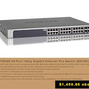 NETGEAR 28-Port 10Gig Gigabit Ethernet Pro Switch (XS728T)