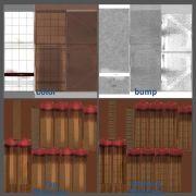 textures & UV layout for matchbook (Autodesk Maya, Adobe Photoshop)