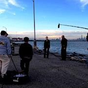 Filming Ataraxia on the Staten Island North Shore.