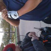 Miking up a Callaway golfer