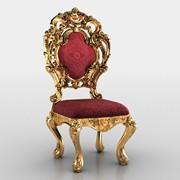 Golden Chair 3D Model