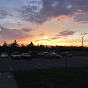 Filmed a funeral for a 15 year old. This is the sunset that day.