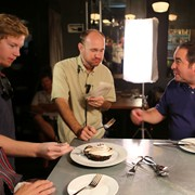 Tasting desserts with Grant and Emeril