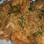 Curry shrimp brown rice