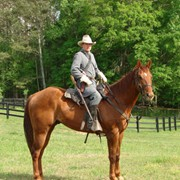 Ed as Confederate Cavalry officer